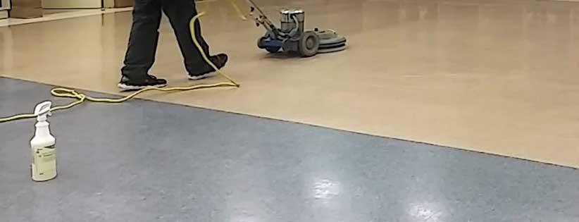 spray buffing floor