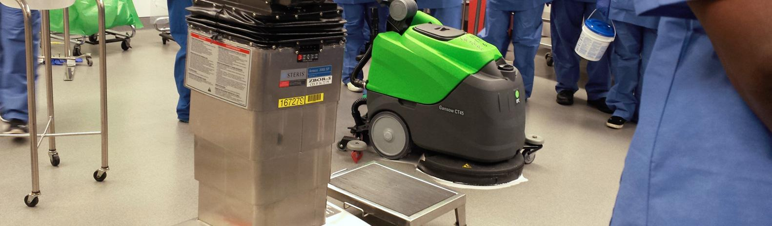 machine for hospital janitorial services